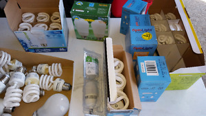CFL Bulbs assorted new/used .  $20