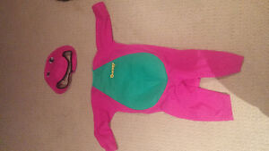 Barney costume.  size 2-3.  Excellent condition.