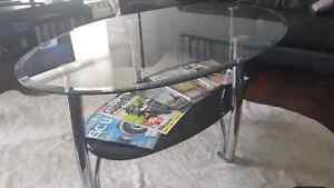 Modern Oval Glass Coffee Table