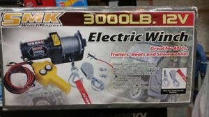 Brand New In the Box - 3000 LBS 12 Volt Truck, SUV or ATV Winch