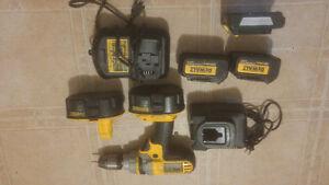 20v dewalt batteries/charger