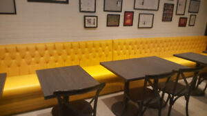 CUSTOM MADE TUFTED WALL RESTAURANT BANQUETTES
