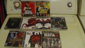 Jeux PS3, Red Dead, Dragon Age 1,2 Skyrim, MAFIA 2, LA Noire +