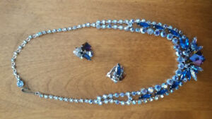 Fine Vintage Rhinestone Necklace / Ear Ring set Price negotiable