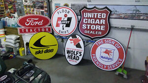 LARGE 3 TO 4 FOOT GASOLINE AND SKI-DOO SIGNS