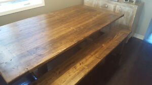 "2"" Thick, Rustic Pine Dining Tables Starting At Only $650 Kitchener / Waterloo Kitchener Area image 8"
