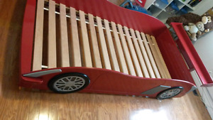 Red racecar bed