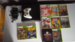 xbox 360 + 320 GB Hard Drive, Controller and Games