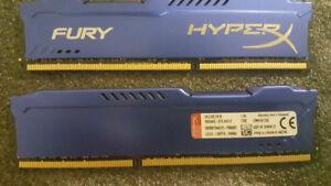 16GB HyperX FURY 2x8GB 240-Pin DDR3 1600Mhz