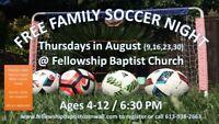Free Family Soccer Night @ Fellowship Baptist Church