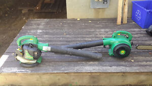 Gas blowers chainsaw and trimmer