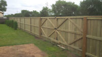 Treated Wood Fence Construction - Best Quality