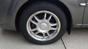 185/60R15 Michelin X-Ice Winter Tires on Alloy Rims Set of 4
