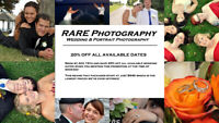 Wedding Photography: Save 20% Off All Available Dates!