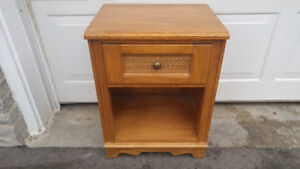 WOODEN NIGHT STAND TABLE