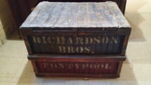 Vintage Shipping Crate / Storage Chest Circa 1930