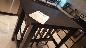 MINT IKEA STORNAS BAR TABLE AND STOOL