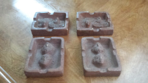 Several Mexican Pottery Aztec Ashtrays