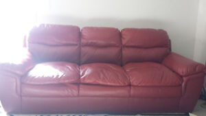 red sofa set Kitchener / Waterloo Kitchener Area image 1