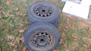 4 Winter tires with rimes size R13 155/80 Gatineau Ottawa / Gatineau Area image 1