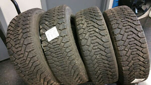 195/60/R15 Good Year (Nordic) Snow Tires (Rims Included)