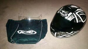 HJC Helmet and Leather Jacket