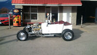 1927 ford t bucket - hot rod - steel body