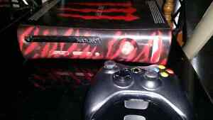 Custom painted xbox 360 120 gb 3 controllers 14 games