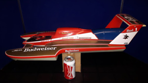 MISS BUDWEISER BUD 1 RC VINTAGE BOAT HULL- SUPER RARE!
