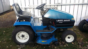 "Ford LS55 with mower, 36"" tiller & 25hp replacement engine"