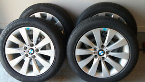 BMW 3 series mags with Pirelli Run Flat winter tires 225/50/17