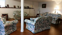 Couch set, dining room set and bedroom set