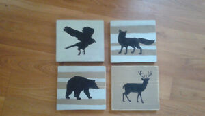 Cute wooden forest animals wall decor London Ontario image 1