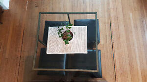 Square Glass Table Set