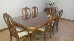 Solid Oak Ashley Furniture Dining room table