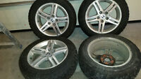 Hionda/Acura wheels for sale with winter studded tires 205/55/16