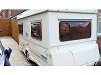 esterel caramatic 1996 39 3 birth folding caravan with awning, new reupholstered great condition