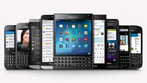 Various models of unlocked blackberry phones