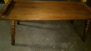 Antique coffee table solid wood 25$