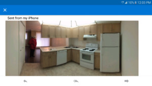 complete kitchen cabinetry and counter with corner sinks