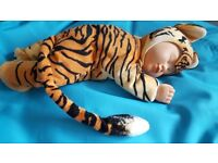 Anne Geddes Sleeping Tiger Baby Doll