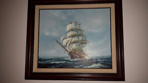 Oil base boat painting