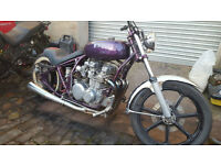 Kawasaki 650 Custom Chopper Project Spares or repair PX Swap UK Delivery
