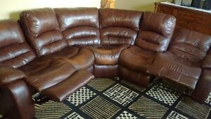 3 pcs sectional w/2recliners
