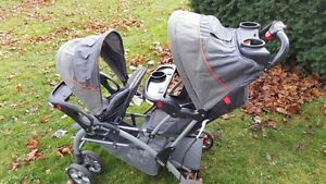Baby Stroller trend Double Convenience -Black, price 90CAD