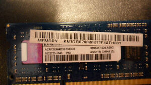 1x1gb ddr3 1333mhz Kingston memoire portable SODIMM 1.5v