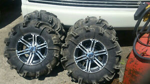 mud  tires ,gorilla silverbacks on ss rims