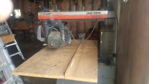"Craftsman 10"" Contractor Radial Arm Saw  13 amp"