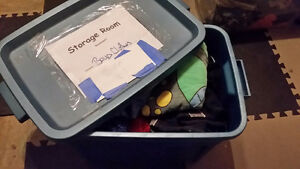 Large bin of boys size 4 assorted clothing
