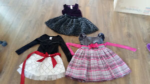3 robes chics grandeur 4 ans
